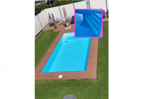 Styropor Pool Komplettset mit Technik, Foliensack & Ecktreppe